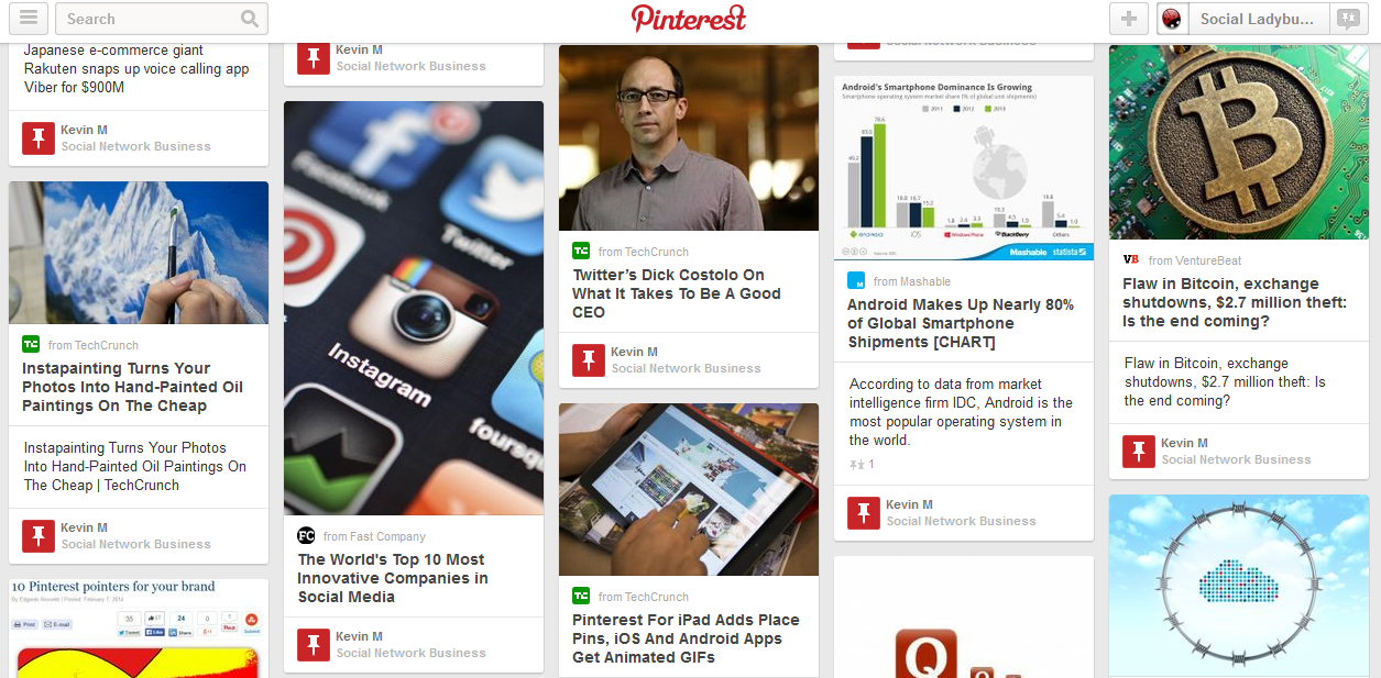 NewsFeed-Pinterest