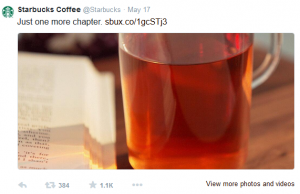 Starbucks on Twitter normal post