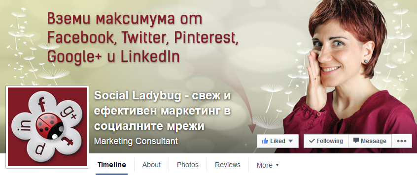 Social ladybug cover снимка за Facebook