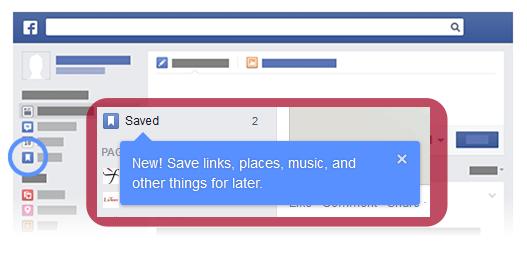 Стъпка 2 как да използва Save опцията във Facebook