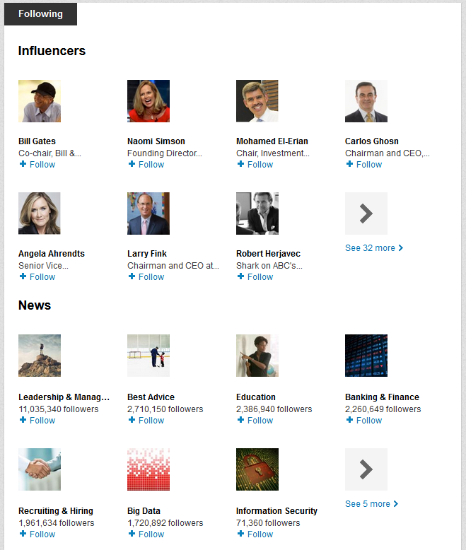Influencers LinkedIn